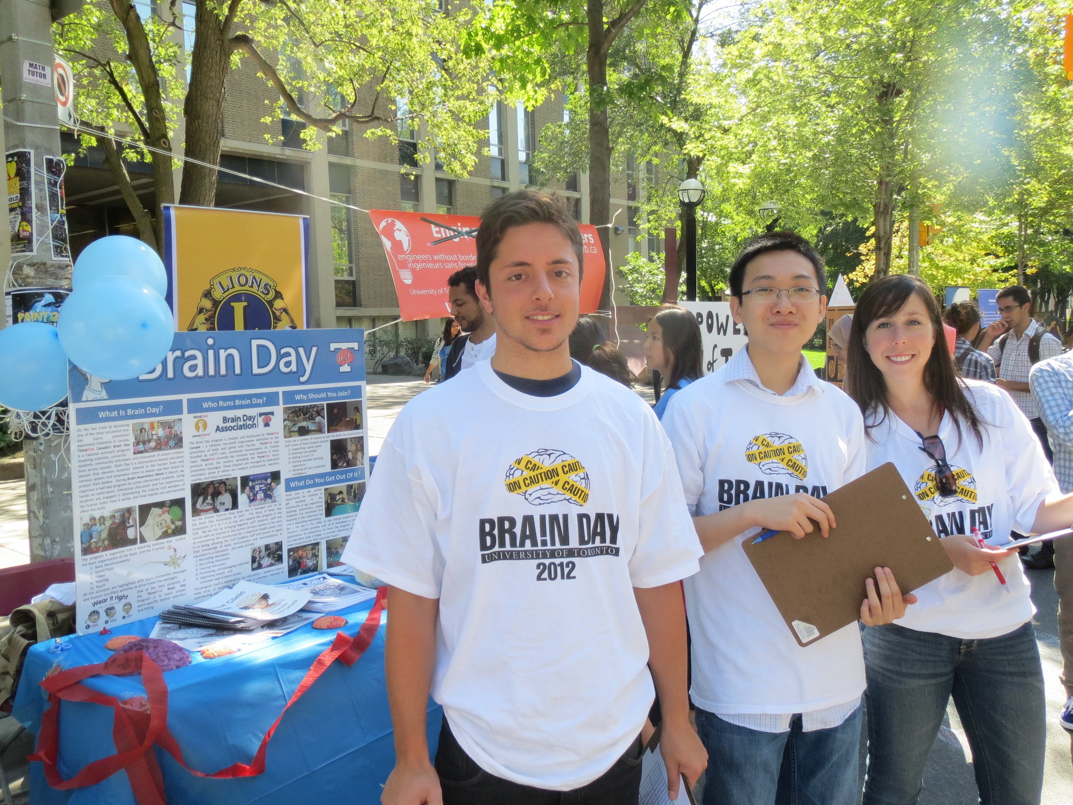 Brain Day Info Booth @ St. George Street Festival